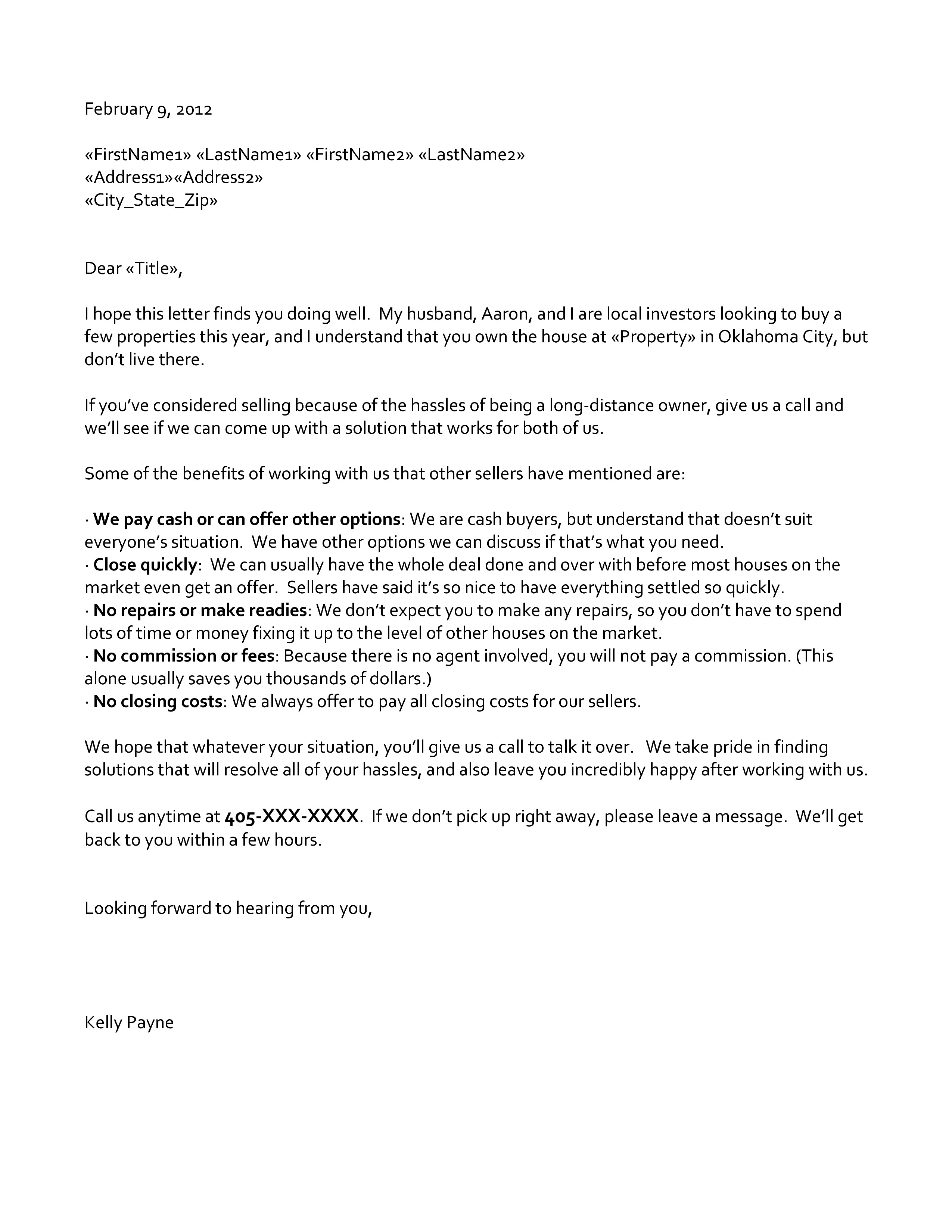 Professional Absentee Letter – Professional Letters
